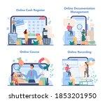 cashier online service or... | Shutterstock .eps vector #1853201950