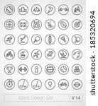 vector thin sport icons design...   Shutterstock .eps vector #185320694