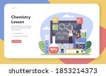 chemistry studying web banner...   Shutterstock .eps vector #1853214373