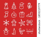 christmas icon image new... | Shutterstock . vector #1853219779