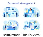personnel management concept... | Shutterstock .eps vector #1853227996