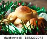 Close Up Mini Bread Rolls With...