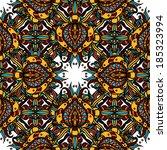 bright seamless asian ornament. ... | Shutterstock .eps vector #185323994