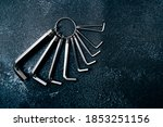 Set Of Hex Keys Isolated On...