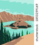 crater lake national park in... | Shutterstock .eps vector #1853259169