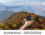 beautiful korean autumn scenery.... | Shutterstock . vector #1853263306