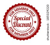 special discount  for member... | Shutterstock .eps vector #185329220