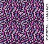 Realistic Violet Simple Knit...