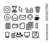 set of 8 bit pixel graphics...   Shutterstock .eps vector #1853327980