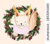 Watercolor Vector Christmas...