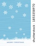 christmas card with snowflakes... | Shutterstock .eps vector #1853358970