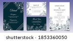 elegant hand drawn floral... | Shutterstock .eps vector #1853360050
