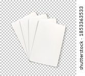 blank playing cards. template... | Shutterstock .eps vector #1853363533