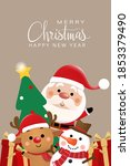 merry christmas and happy new... | Shutterstock .eps vector #1853379490