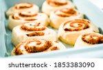 Unbaked Cinnamon Rolls In A...