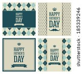 abstract happy father's day on... | Shutterstock .eps vector #185339246