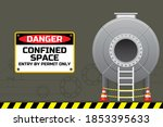 confined space of tank safety... | Shutterstock .eps vector #1853395633
