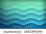 wavy texture on blue gradient... | Shutterstock .eps vector #1853399290