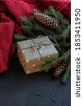 christmas decorations with gift ... | Shutterstock . vector #1853411950