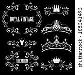 floral design elements  vintage ... | Shutterstock .eps vector #185341493