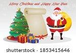 cartoon christmas santa claus ... | Shutterstock .eps vector #1853415646
