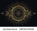 moon magic. triple moon pagan... | Shutterstock .eps vector #1853419636