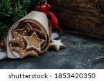 christmas composition with... | Shutterstock . vector #1853420350