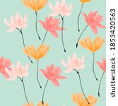 beautiful seamless pattern with ... | Shutterstock . vector #1853420563