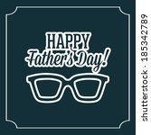 abstract happy father's day on... | Shutterstock .eps vector #185342789