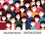 corona virus pandemic.people...   Shutterstock .eps vector #1853432560