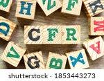 alphabet letter block in word... | Shutterstock . vector #1853443273