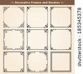 decorative frames and borders... | Shutterstock .eps vector #185345378