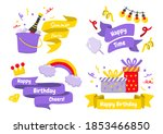 party label vector logo for... | Shutterstock .eps vector #1853466850