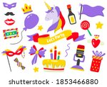 party label vector logo for... | Shutterstock .eps vector #1853466880