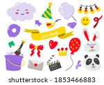 party label vector logo for... | Shutterstock .eps vector #1853466883