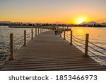 Wooden Pier On Red Sea In...