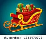 christmas santa claus sleigh... | Shutterstock .eps vector #1853470126
