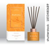 papaya home fragrance sticks... | Shutterstock .eps vector #1853480689