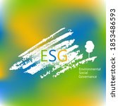 esg concept of environmental ... | Shutterstock .eps vector #1853486593