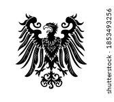severe noble heraldic eagle... | Shutterstock .eps vector #1853493256