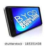 byod acronym smart cell phone... | Shutterstock . vector #185351438