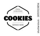 fresh cookies sign label tag | Shutterstock .eps vector #1853523856