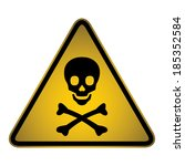 skull danger warning hazard... | Shutterstock .eps vector #185352584