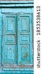 Old Blue Wooden Window Shutters....