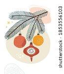 abstract modern christmas... | Shutterstock .eps vector #1853556103