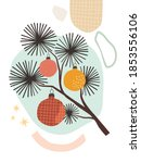 abstract modern christmas... | Shutterstock .eps vector #1853556106