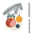 abstract modern christmas... | Shutterstock .eps vector #1853556109