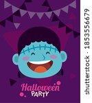 happy halloween party with... | Shutterstock .eps vector #1853556679