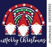 merry christmas vector design ...   Shutterstock .eps vector #1853558503