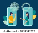 vector illustration  tangled... | Shutterstock .eps vector #1853580919